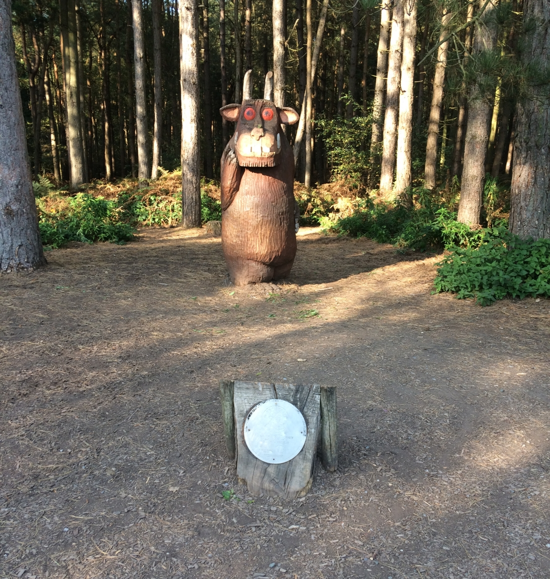 Gruffalo sculpture at the start of one of the walking trails
